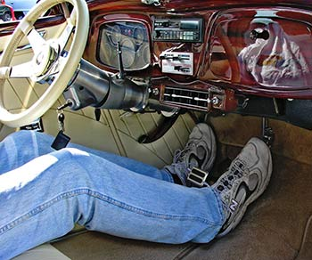 After Installing Steer Clear In His Foose Built 34 Ford 6 7 Ray Has Enough Room To Stretch Legs Out And Drive Comfort